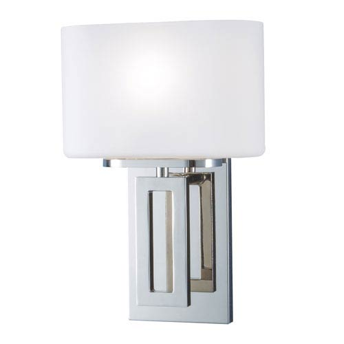 Norwell Hamilton Polished Nickel One-Light Wall Sconce