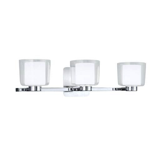 Alexus Chrome Three-Light Vanity