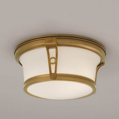 Norwell Leah Aged Brass 13-inch Flush Mount