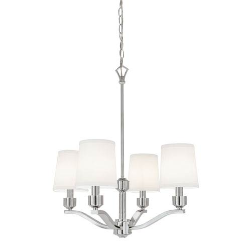 Norwell Roule Polished Nickel Four-Light Chandelier