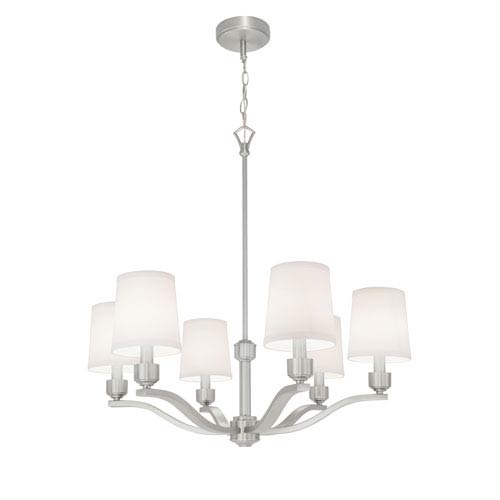 Norwell Roule Brushed Nickel Six-Light Chandelier