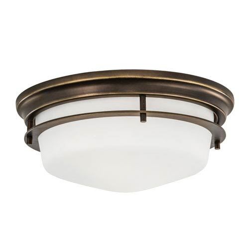 Norwell Gallery Burnished Bronze Two-Light Flush Mount