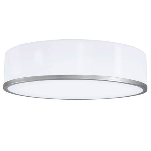 Norwell Meridian Brushed Nickel 16-Inch LED Flush Mount
