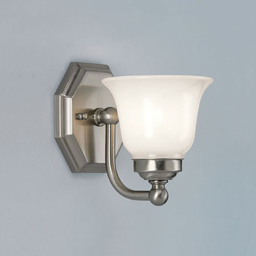 Norwell Trevi Brushed Nickel Single Light Wall Sconce