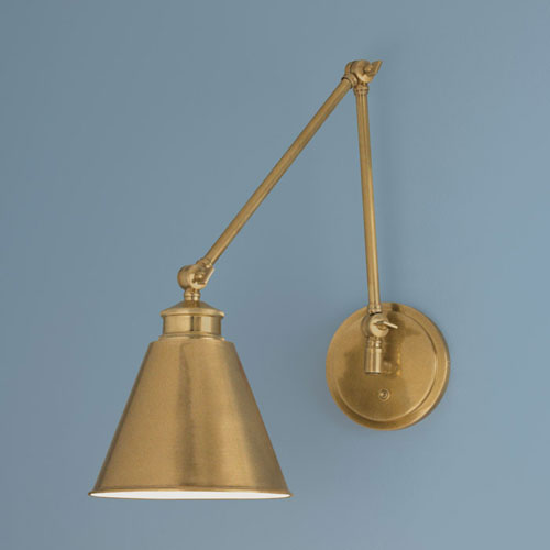 Aidan Aged Brass Swing Arm Wall Lamp