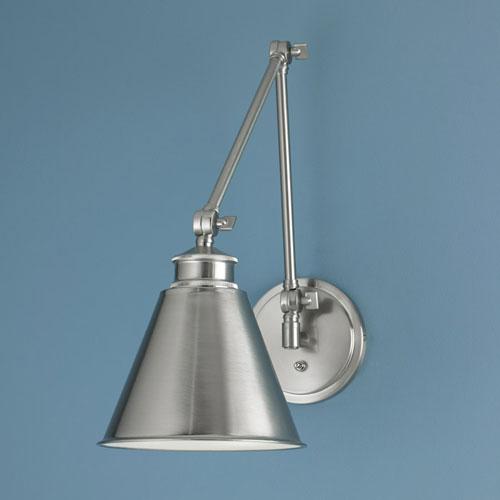 Norwell Aidan Brushed Nickel Swing Arm Wall Lamp