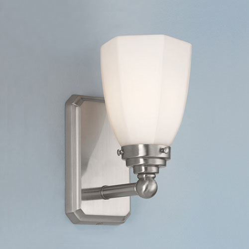 Norwell Williams Brushed Nickel Single Light Wall Sconce