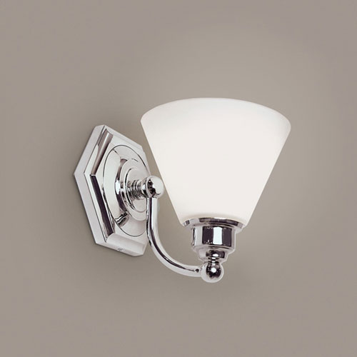 Norwell Jenna Chrome Single Light Wall Sconce