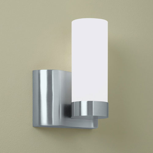 Norwell Wave Brushed Nickel Single Light Left Side Wall Sconce