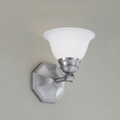Norwell Kathryn Brushed Nickel Single Light Wall Sconce