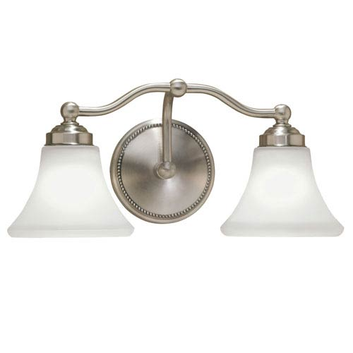 Soleil Brushed Nickel Two-Light Vanity