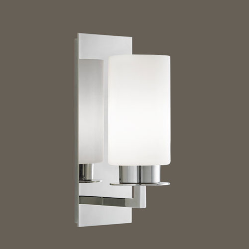 Norwell Jade Polished Nickel Single Light Wall Sconce