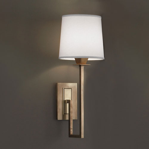 Norwell Maya Aged Brass Single Light Wall Sconce