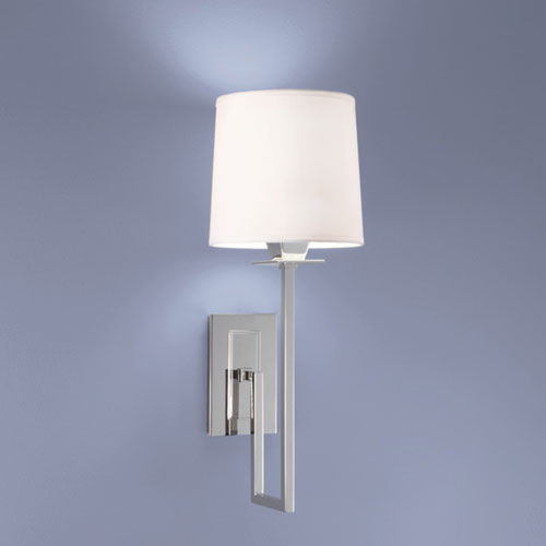 Maya Polished Nickel Single Light Wall Sconce