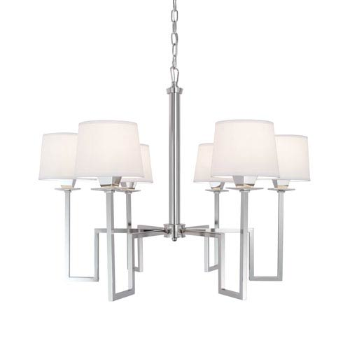 Norwell Maya Polished Nickel Six-Light Chandelier