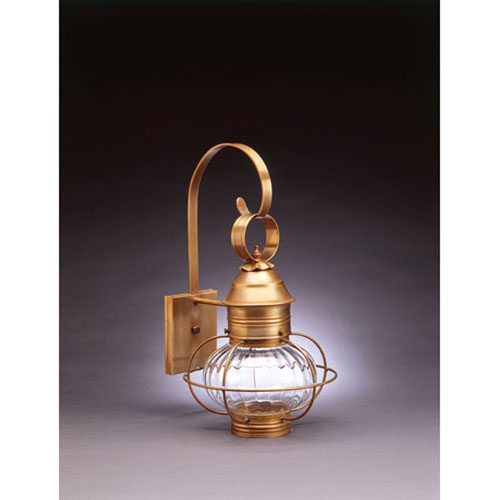 Onion Dark Brass 11-Inch One-Light Outdoor Wall Mount