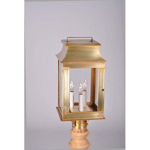 Concord Dark Brass Nine-Inch Three-Light Outdoor Wall Mount