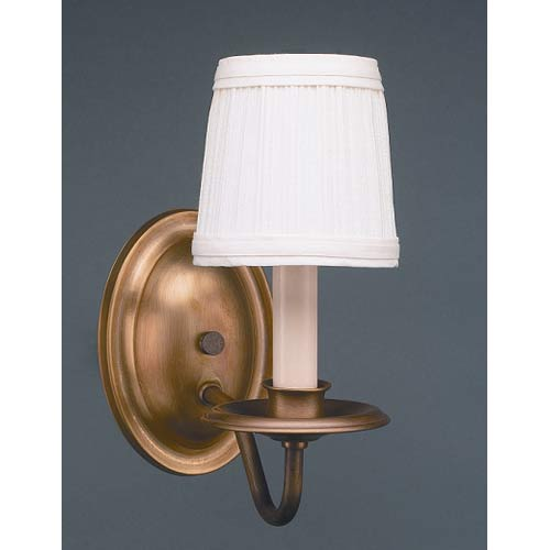 Antique Brass One-Arm Shaded Wall Sconce