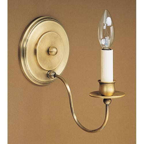 Graceful Antique Brass Single-Arm Candelabra Sconce