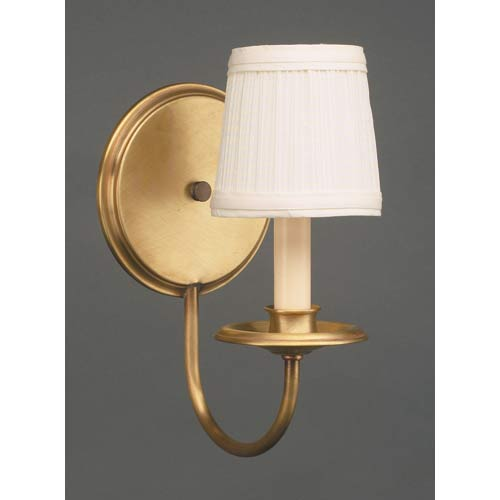 Antique Brass Single-Light Shaded Wall Sconce