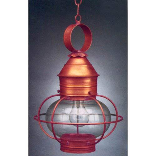 Antique Copper Onion Outdoor Hanging Lantern