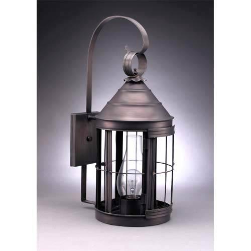 Dark Brass Heal Outdoor Wall Lantern