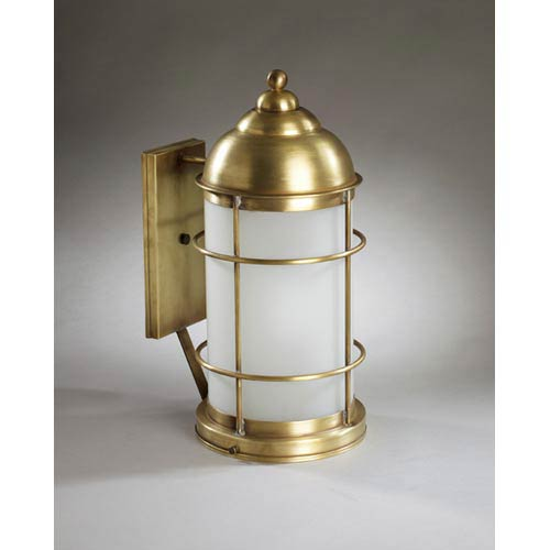 nautical outdoor wall lights marine northeast lantern nautical antique brass onelight outdoor wall light with frosted glass bellacor