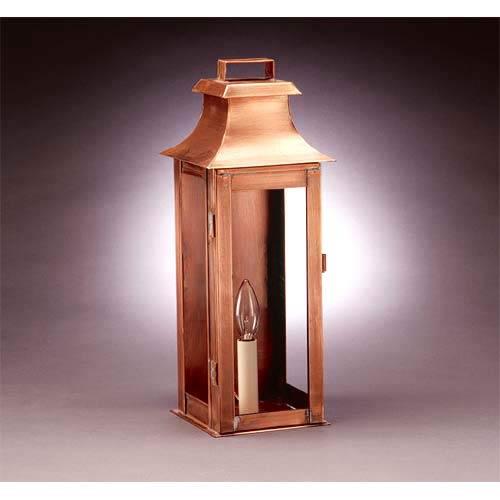 Medium Antique Copper Clear Concord Outdoor Wall Lantern