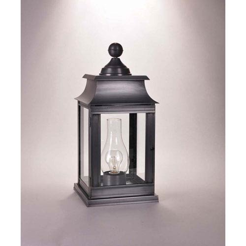 Concord Dark Brass 9.5-Inch One-Light Outdoor Pier Mount with Clear Glass