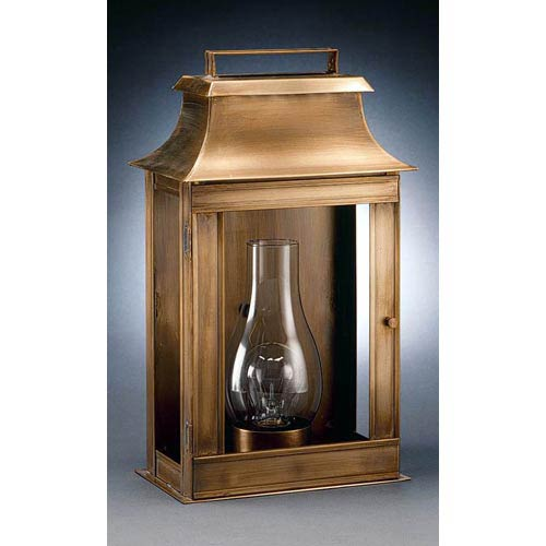 Concord Antique Brass One-Light Outdoor Wall Light with Clear Glass
