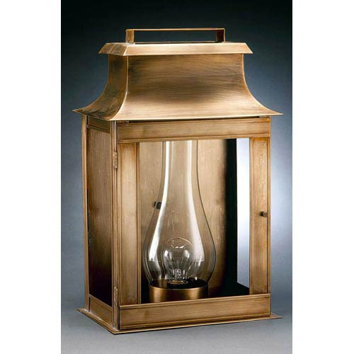 Concord Antique Br One Light Outdoor Wall With Clear Gl