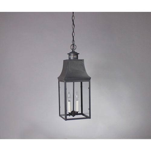 Bristol Dark Brass 8.5-Inch Two-Light Pendant with Clear Glass
