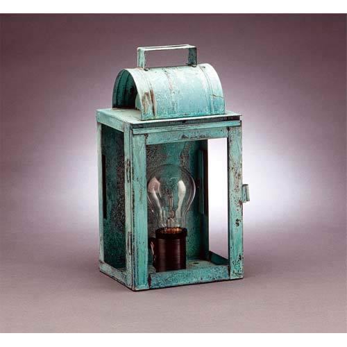 Small Verdi Gris Livery Outdoor Wall Lantern