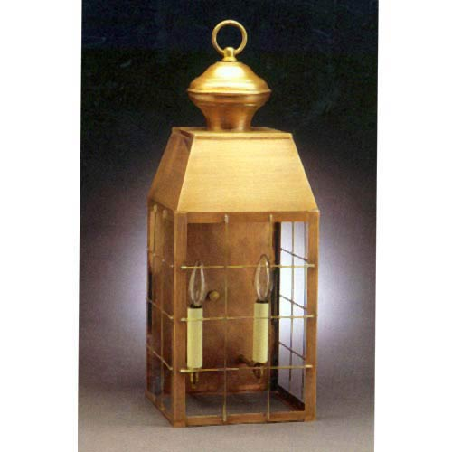 Large Antique Brass Plantation Outdoor Wall Lantern