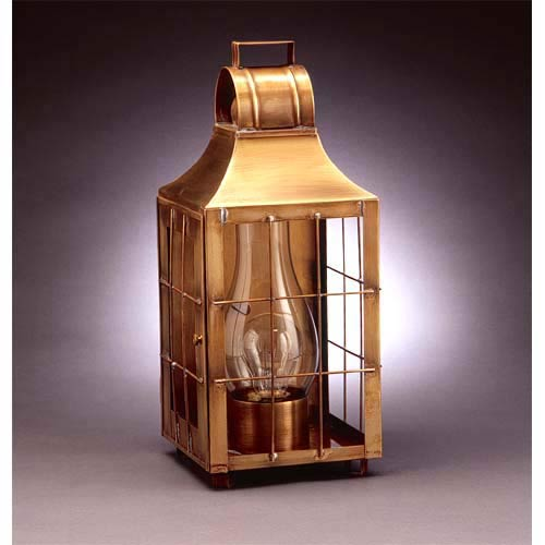 Medium Antique Brass Barn Outdoor Wall Lantern