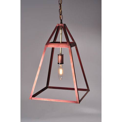 Appledore Antique Copper One-Light Pendant with Clear Glass