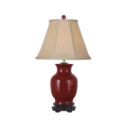 Oxblood Vase Lamp