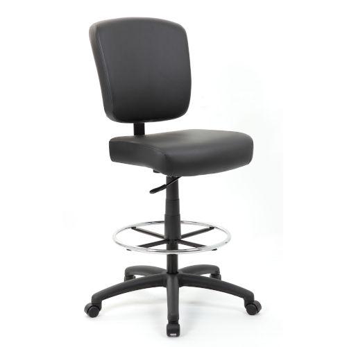 Boss 27-Inch Black Oversized Drafting Stool