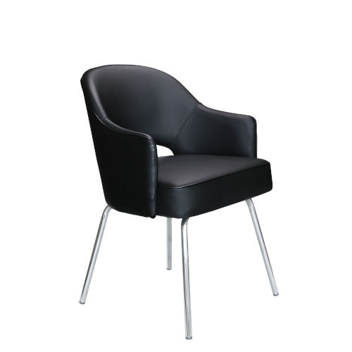 Black 25-Inch Caressoftplus Guest Chair