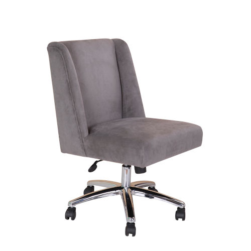 Boss 25-Inch Gray Decorative Task Chair