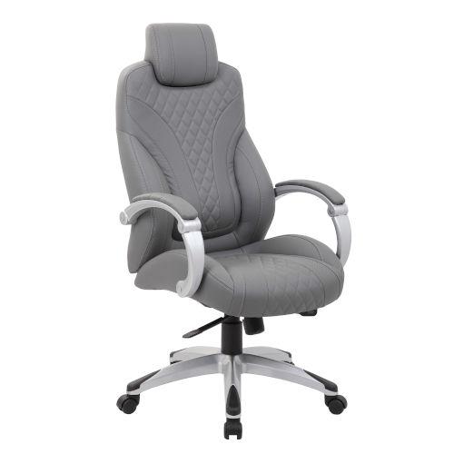 Boss 27-Inch Grey Executive Hinged Arm Chair