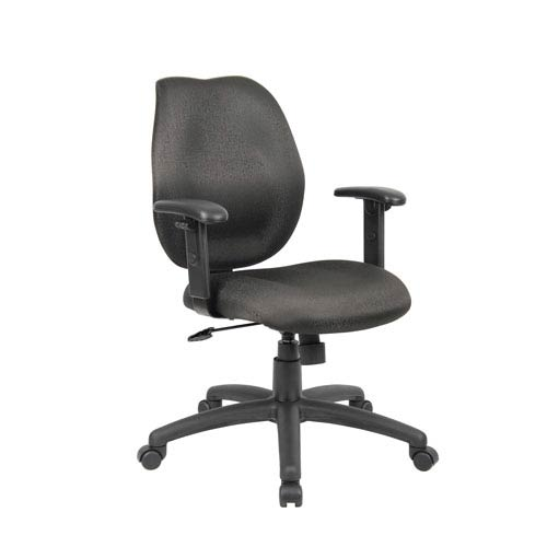 Boss Black Task Chair with Adjustable Arms