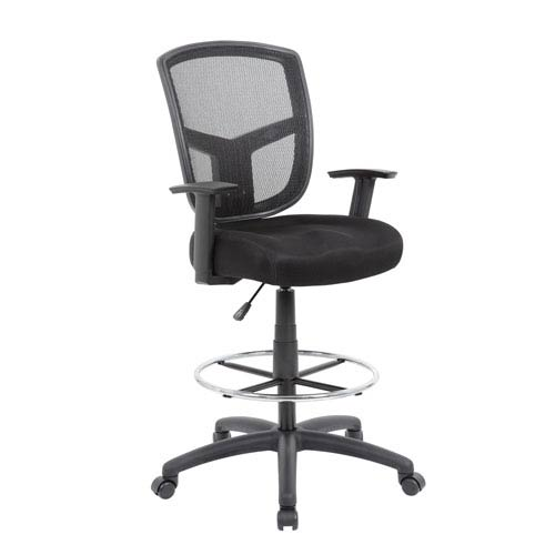 Boss Contract Mesh Drafting Stool