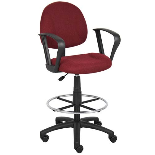 Presidential Seating Boss Drafting Stool with Footring And Loop Arms