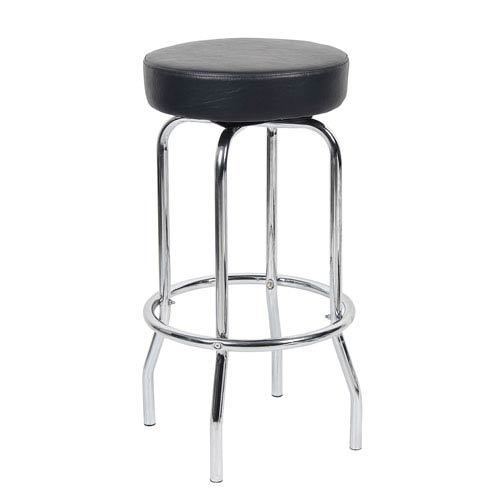29-inch Chrome/Black Stool