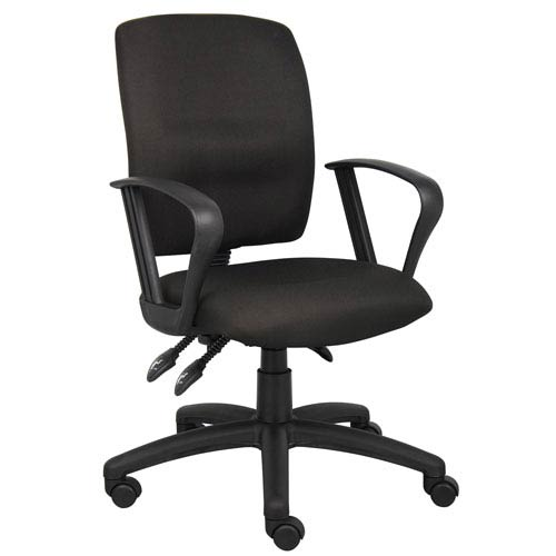 Boss Multi-Function Fabric Task Chair with Loop Arms