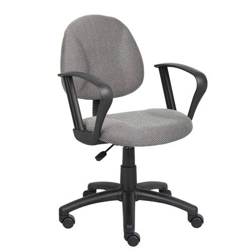 Boss Grey Deluxe Posture Chair with Loop Arms