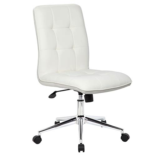 White Modern Task Chair