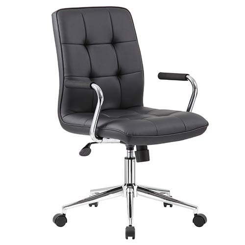 Presidential Seating Black Modern Task Chair with Arms