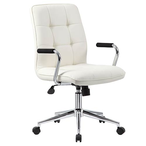 Presidential Seating White Modern Task Chair With Arms